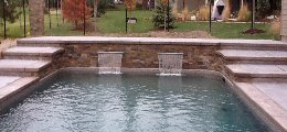 Custom water features for inground pools
